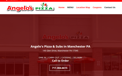 Flash Avenue launches website for Angelo's Pizza & Subs in Manchester PA