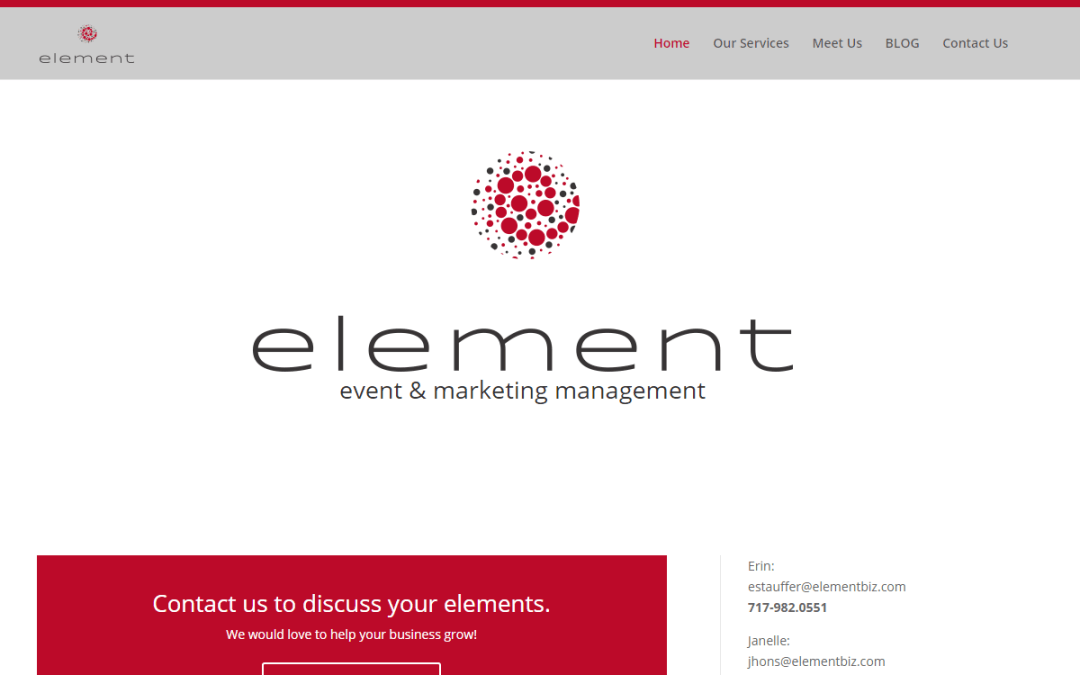 Flash Avenue launches website for Element Consulting