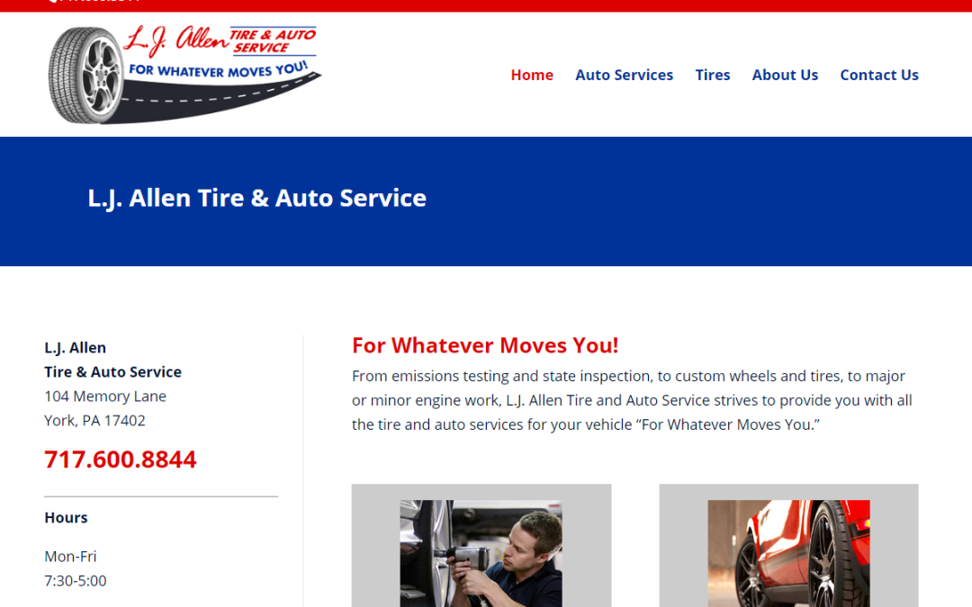 Flash Avenue rebuilds L.J. Allen Tire & Auto website to be mobile-friendly