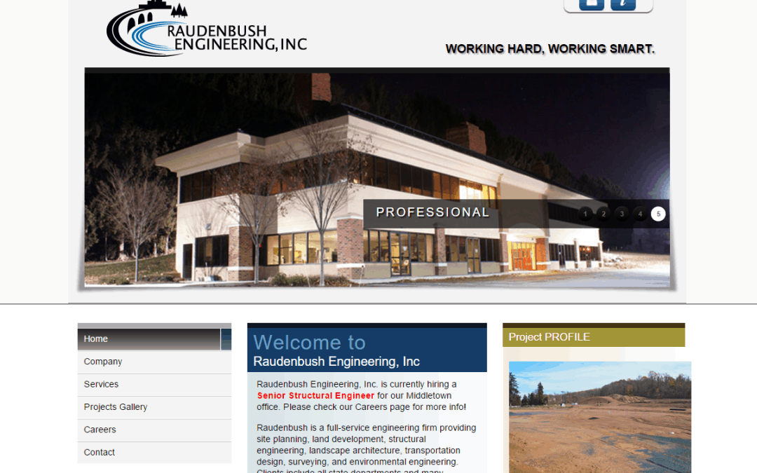 Flash Avenue provides a home for the Raudenbush Engineering, Inc. website