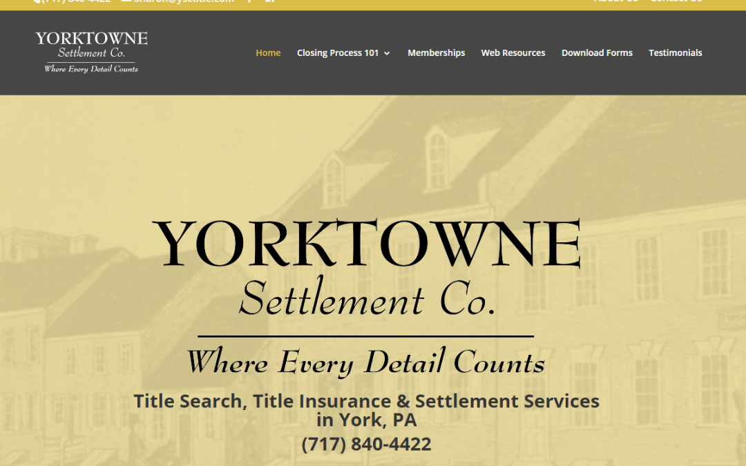 Flash Avenue rebuilds Yorktowne Settlement Company website to be mobile-friendly