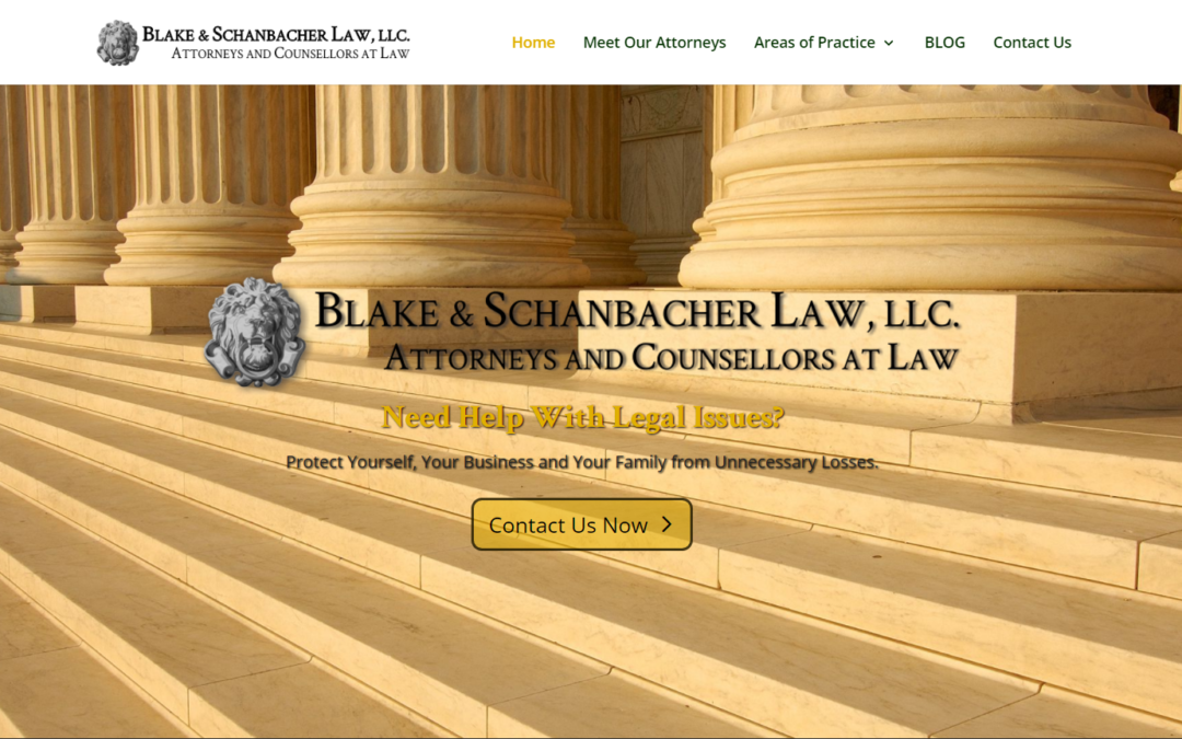 Flash Avenue builds a new website for Blake & Schanbacher Law