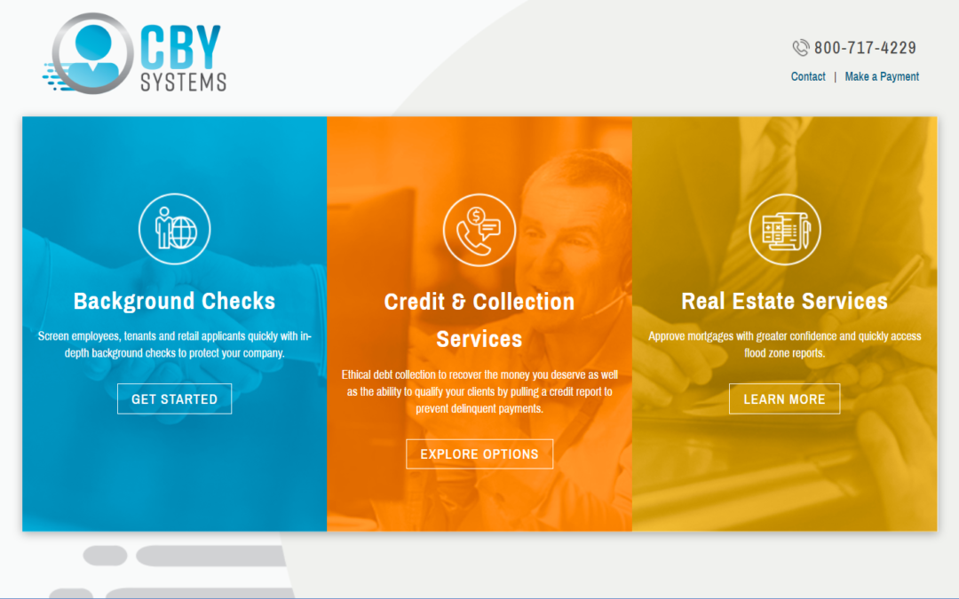 Flash Avenue rebuilds CBY Systems website to incorporate new branding design.