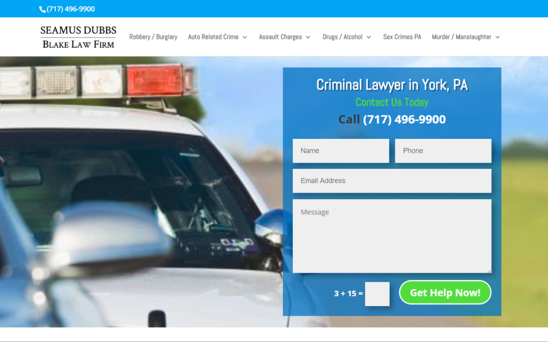 Flash Avenue cleans up hacked website and rebuilds onto secure platform for Seamus Dubbs of Blake Law Firm.