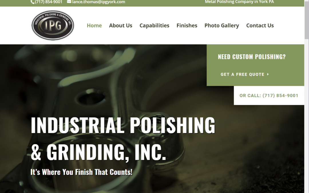 Flash Avenue rebuilds Industrial Polishing & Grinding website to support direct sales efforts