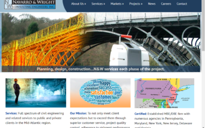 Flash Avenue repairs broken website navigation and links for Navarro & Wright