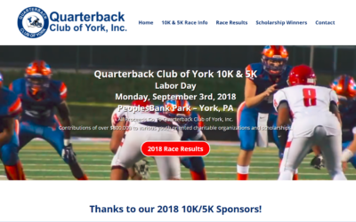 Flash Avenue rebuilds and rebrands Quarterback Club of York website to match the revitalization effort