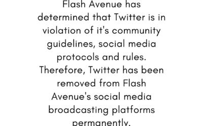 Flash Avenue Bans Twitter